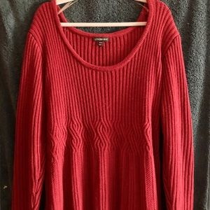 Lane Bryant Sweater Dress in Cranberry 26/28
